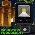 Outdoor LED Floodlight 20w 30w 50w PIR Motion Sensor Security LED Induction Flood Light 100w PIR Infrared Spotlamp Waterproof