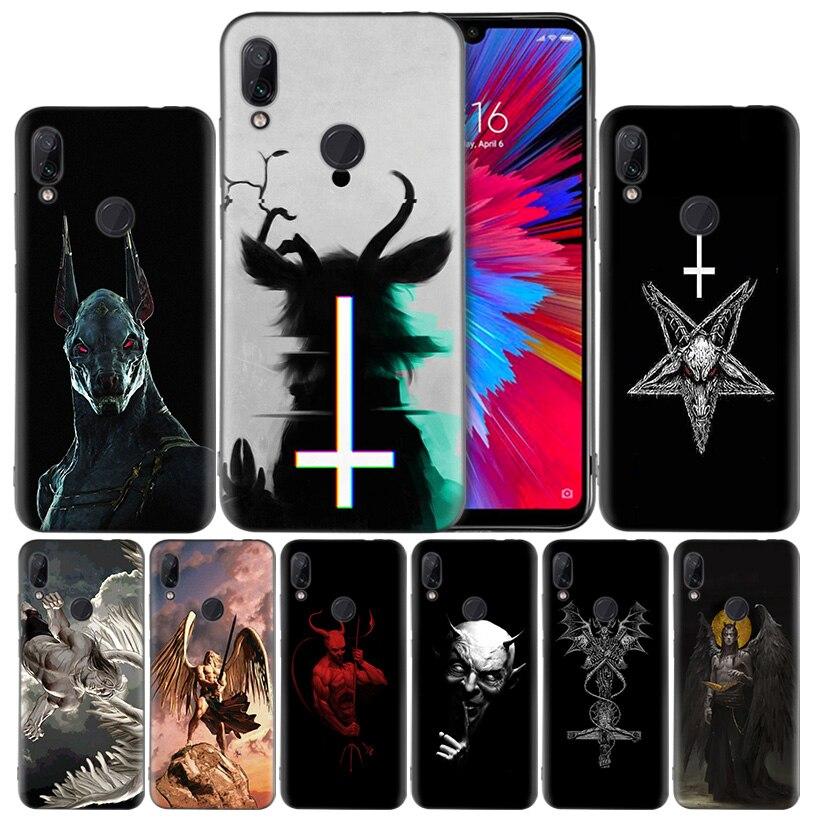 Lucifer Satan Angel DeSilicone Case Cover for Xiaomi Redmi Note 7 7A 7S K20 Y3 6 6A S2 GO 5X 6X Mi A1 A2 8 Play Lite Pro Poco F1