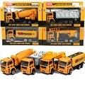 Feliz de la cereza 4 unids niños kids toys tire la construcción de camiones vehículo mini tractor modelo cars juguete regalos para bebé muchachas de los muchachos
