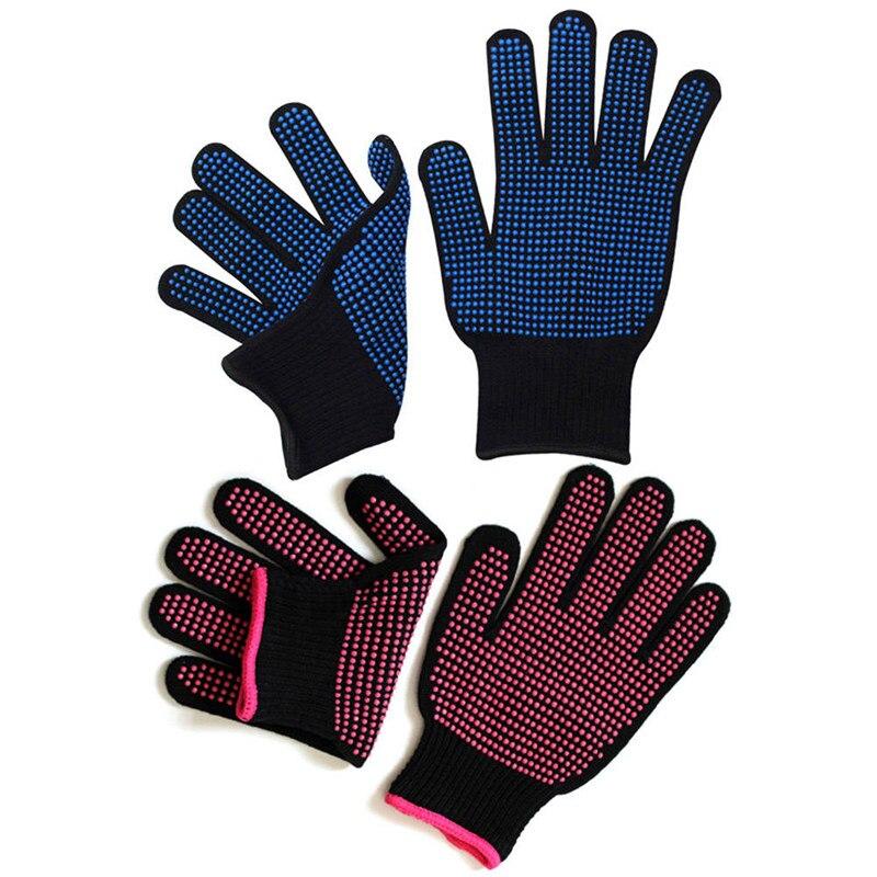 1 Paar Nicht-slip Anti-verbrühungen Friseur Handschuhe Silikon Isolierte Gloves300 Celsius Wärme Beständig Silicon Dot Mitts Exquisite (In) Verarbeitung