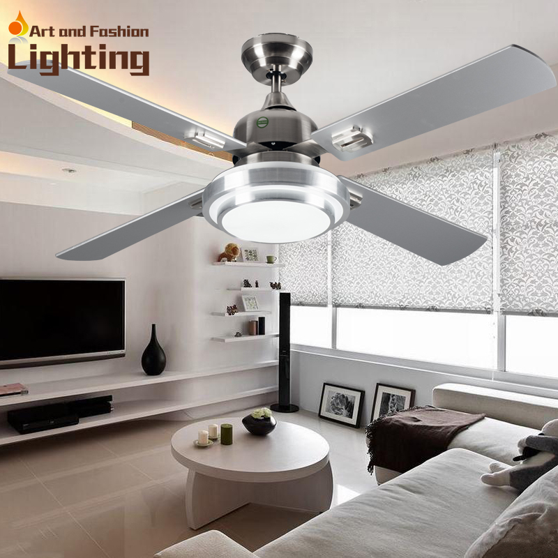 Super Quiet Ceiling Fan Lights Large 52 Inches Modern Ceiling Fan Lamp Living Room Bedroom