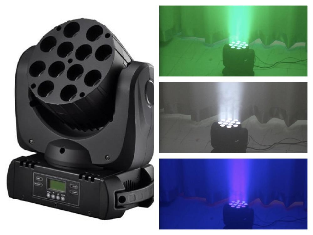 2pcs / ლოტი + ფრენის, LED სხივი მოძრავი უფროსი 12x10w RGBW 4in1 Quad Light Stage განათების პროფესიონალური კონცერტი ktv dj club disco dmx