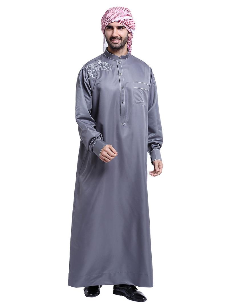 アラビアイスラム服 Jubba 男性ムスリムトーブローブ Musulman ドレスオマーン Qamis オムサウジアラビアイスラム衣装コスプレ衣装