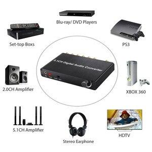Image 3 - Décodeur Neoteck 192kHz DAC 5.1CH décodeur Audio numérique prise en charge AC 3/DTS optique Coaxial à 6 RCA 3.5mm Jack adaptateur Audio