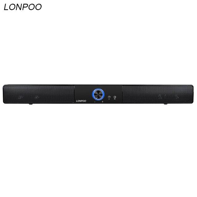 LONPOO новейший Bluetooth динамик Портативный Саундбар звуковая панель HIFI Саундбар динамик для компьютера ПК телефон