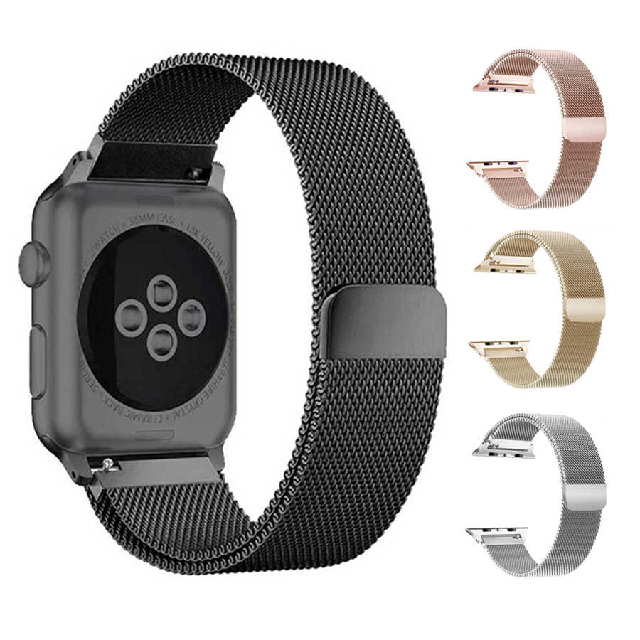 6a2fd30a29f84c Milanese Loop Band for iWatch Series 4 40mm 44mm Bracelet Strap Magnetic  Band for Apple Watch