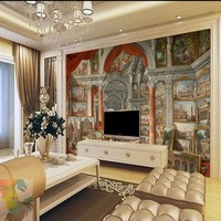 Free Shipping Oil Painting Modern Roman Gallery Landscape Custom Mural High End Hotel Lobby Decoration Wallpaper