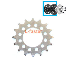 16T Fixed Gear Voor Fiets Schijfrem Mount Bouten-vaste Keten Wiel 6 Schroef Disc Hub Converteren Naar fix Gear Single Speed Fixed Cog(China)