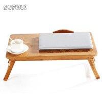 SUFEILE Außen büro Natürliche Bambus Laptop Tisch Schreibtisch Höhenverstellbar Klapptisch Computer Schreibtisch Tragbare Notebook Stand D5