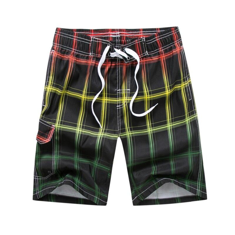Plaid shorts men brand beach shorts 2018 Summer outdoor water sports shorts quick dry anti sweat beach surfing shorts