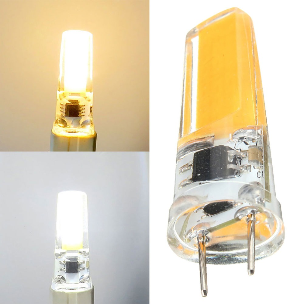 <font><b>G8</b></font> 110V 220V 5W <font><b>LED</b></font> Corn Bulb Silicone Crystal COB Filament Light Lamp image