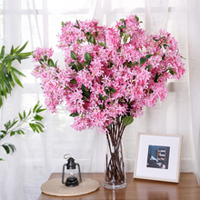 100cm lilacs clove carnation 1 branch artificial flower with fake leaves desktop layout wedding home decor accessories H0028