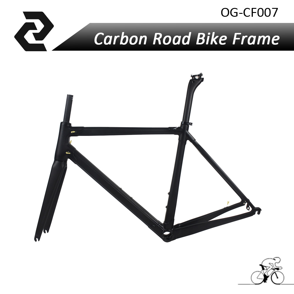 OG-EVKIN Chinese New Brand Road Bike Frame Carbon Fiber Bicycle Parts BB386 3K Glossy/Matt Di2 Quick Release 2 Years Warranty og evkin carbon road bike aero frame with integrated handlebar bicycle cycling sports parts bb86 di2 max 25mm tire glossy matt