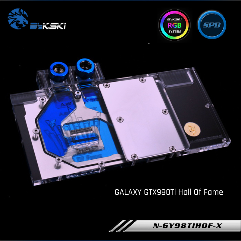 Bykski N GY98TIHOF X Full Cover Graphics Card Water Cooling Block RGB RBW for GALAXY GTX