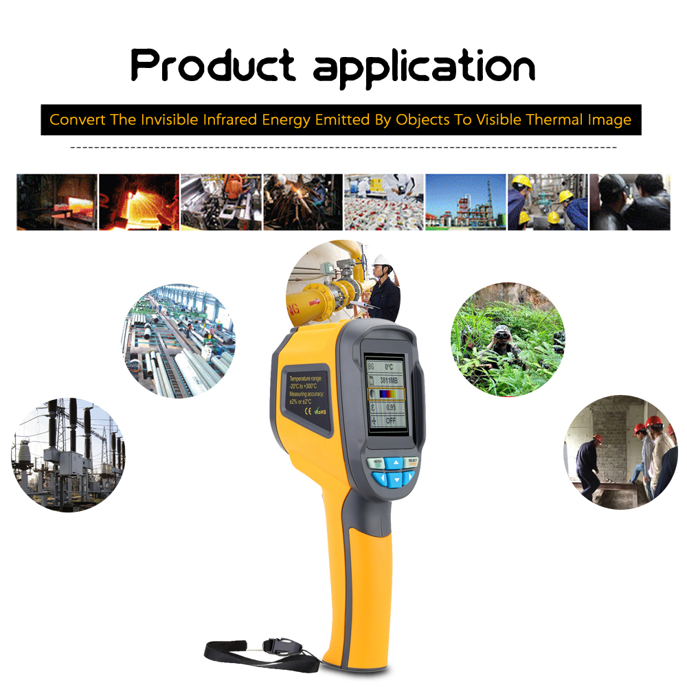 US $199 0 20% OFF Professional Infrared camera Thermometer IR Thermal  Imager Handheld Thermal Imaging Camera termometro Infrared Imaging  Device-in