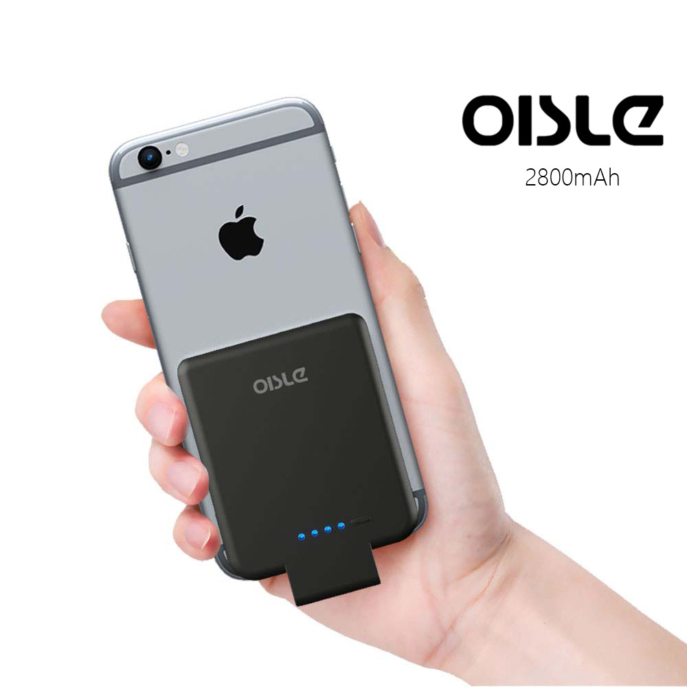 oisle 2800mah battery case for iphone 8 7 6 s portable. Black Bedroom Furniture Sets. Home Design Ideas