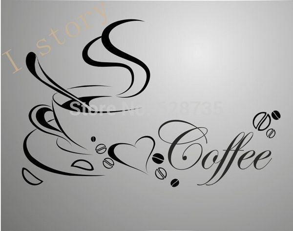 Exceptional Fast Shipping Wall Stickers Coffee Cup , Vinyl Coffee Wall Art Decals Home  Kitchen Decor In Wall Stickers From Home U0026 Garden On Aliexpress.com |  Alibaba ...