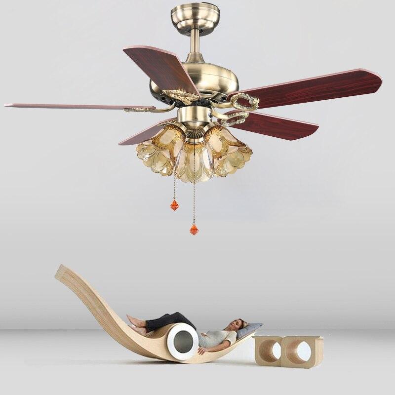 42inch European Style Retro Ceiling Fan Lamp Bedroom Living Room Dining Room Fan Light Fan