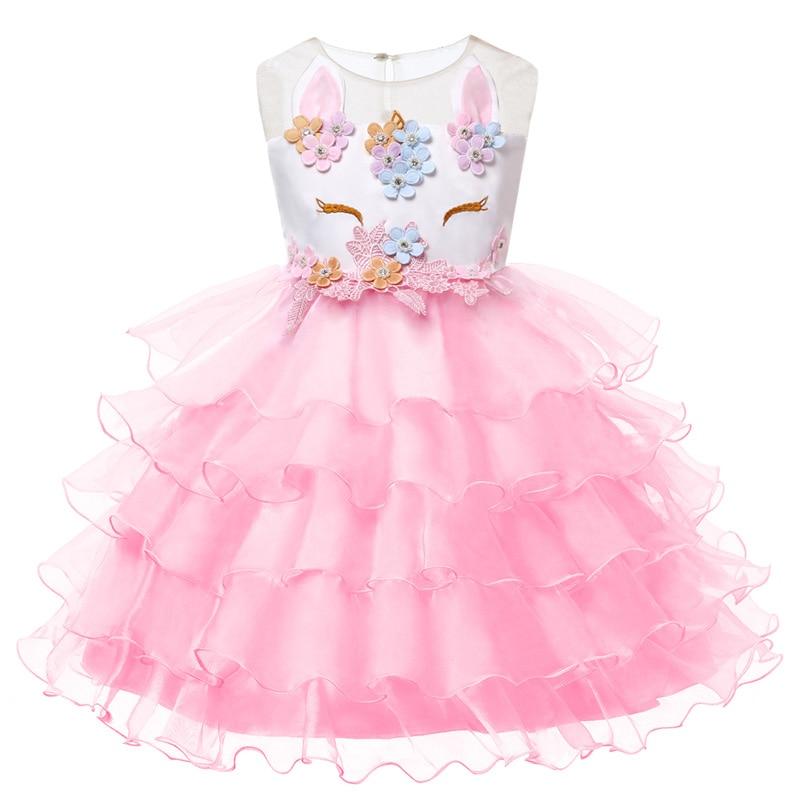 HTB1 NIbJVmWBuNjSspdq6zugXXaC New Girls Dress 3Pcs Kids Dresses For Girl Unicorn Party Dress Christmas Carnival Costume Child Princess Dress 3 5 6 8 9 10 Year