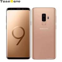 Разблокирована оригинальный samsung Galaxy S9 плюс G965FD 6,2 Dual Sim 6 ГБ Оперативная память 64 Гб Встроенная память 4G LTE Dual 12MP отпечатков пальцев смартфон