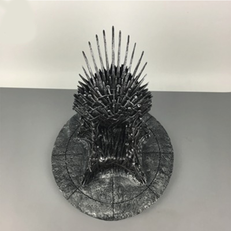 35cm The Iron Throne Desk Game Of Thrones Action Figure Toys Sword Chair Model Toy Song Of Ice And Fire Chirstmas Gift game of thrones action figure toys sword chair model toy song of ice and fire the iron throne desk christmas gift 17cm