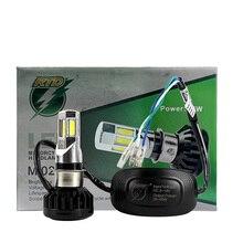 RTD Universal Type M02E Motorcycle LED Headlight Bulb 6 COB 6500K H4 HS1 BA20D P15D H6 3500LM 35W For Motorbike Xenon White