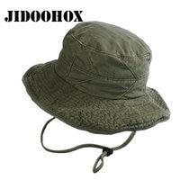 [JIDOOHOX] markalar Erkekler Için Unisex UV Koruma Kova Şapka Kadın Yaz Boonie Avcılık Balıkçılık Balıkçı Şapka Seyahat Güneş Kap