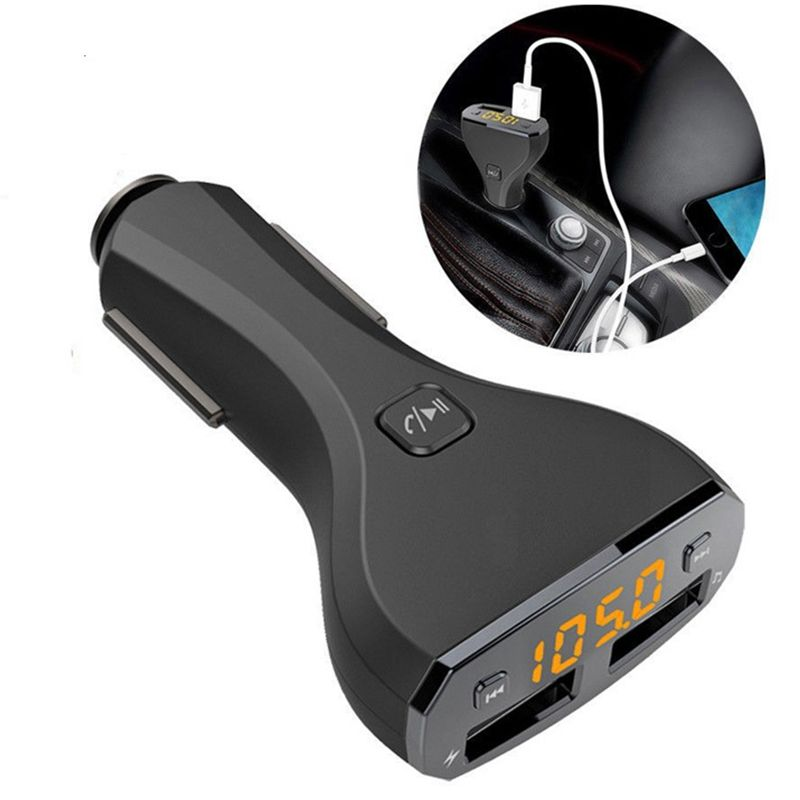 OLLIVAN Car Charger USB LED Display Screen Bluetooth Handsfree player Adapter For Iphone 6 7 8 For Samsung Xiaomi Mobile Phone