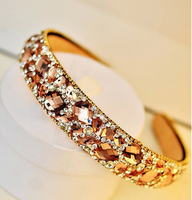 Fashion luxe elegante Kant Strass Vrouwen Haarbanden accessoires kleurrijke mountain crystal hoofdbanden meisje gift sieraden