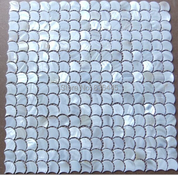 fish scale fan shape shell mosaic mother of pearl tiles natural color kitchen backsplash bathroom shell mosaics tile