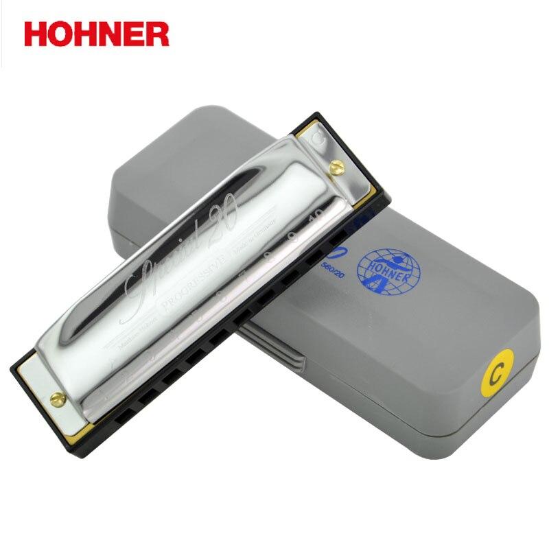 Hohner Special 20 10 Hole Diatonic Harmonica Gaita Standard 10 Hole Diatonic Harmonica Blues Harp, Major C,D,E,F,G,A hohner blues harp 532 20 ms c m533016x