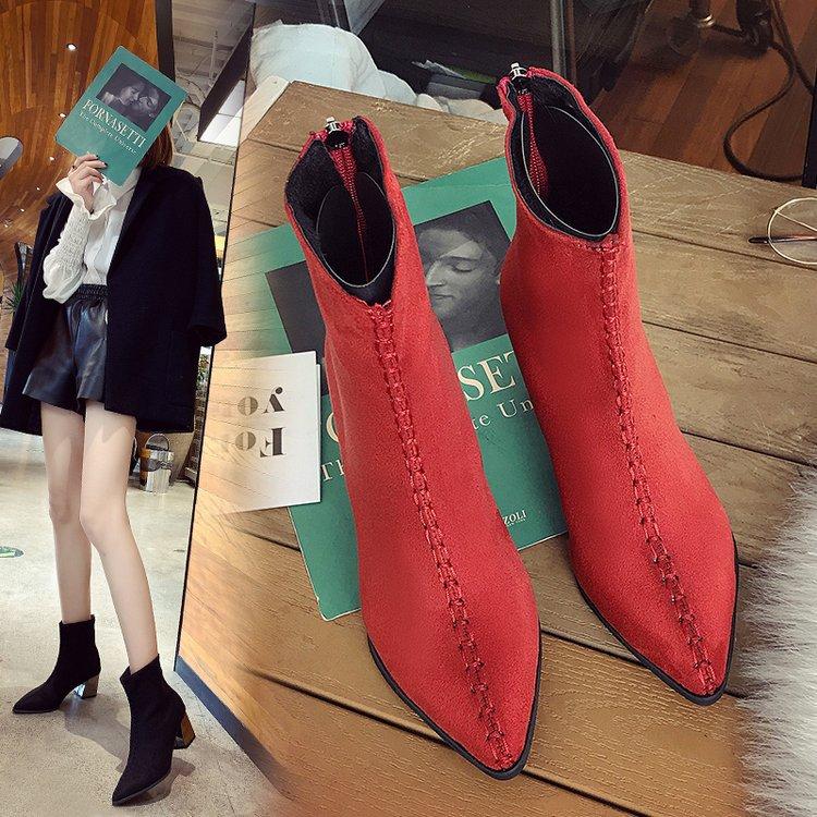 Feutre Dame Chaussettes D'hiver 2 Cheville Imperméable Haute Bottes De 2018 Chaussures Suede Femme Chaussons Chelsea Snowboots Femmes 1 Matelassée Rqn5wOS