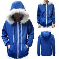 Mężczyźni Kobiety Cosplay Niebieski Polar Z Kapturem Kurtki Bluzy Kostium Ciepłe Casual Coat Szczegóły Dotyczące Undertale Sans Cosplay Niebieski