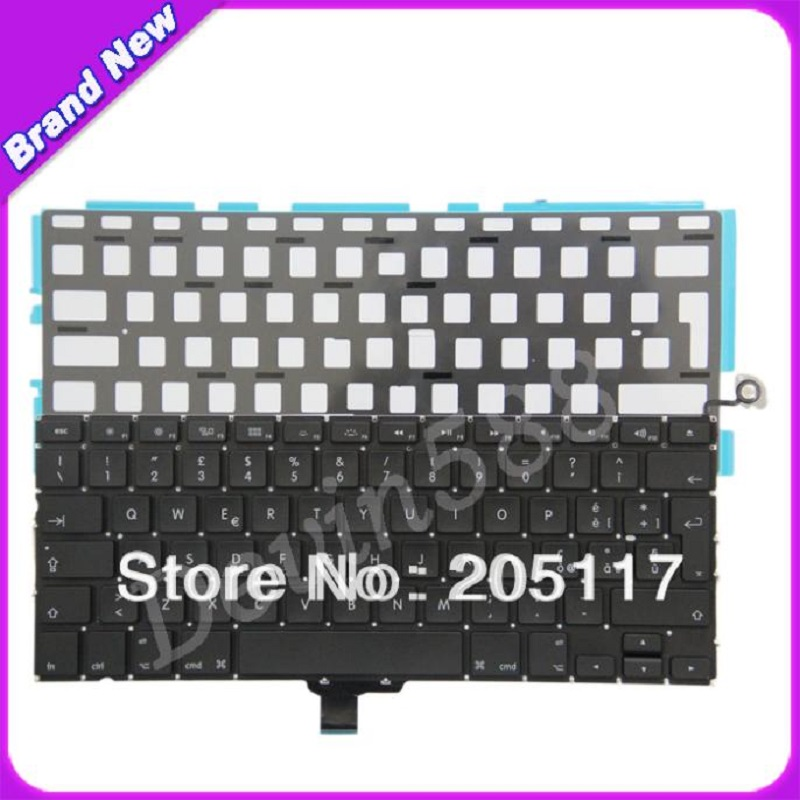 BRAND NEW!13 Italian Keyboard With Backlight For Macbook pro A1278 MB466 MB990 MC700 MC374 5pcs lot netherlands dutch keyboard for macbook pro 13 a1278 netherlands dutch keyboard mc700 mc724 md101 md102