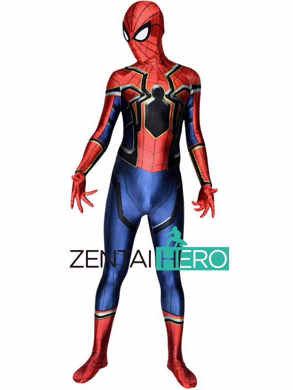 Free Shipping DHL Iron Homecoming Spider-Man's Avenger Suit in Marvel Cinematic Universe Superhero Costume For Adult Halloween