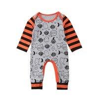 2018 0 24M Latest Children's Wear Baby Boy Girl Infant Long Sleeve Christmas 100% Soft Cotton Romper Jumpsuit Playsuit Clothes