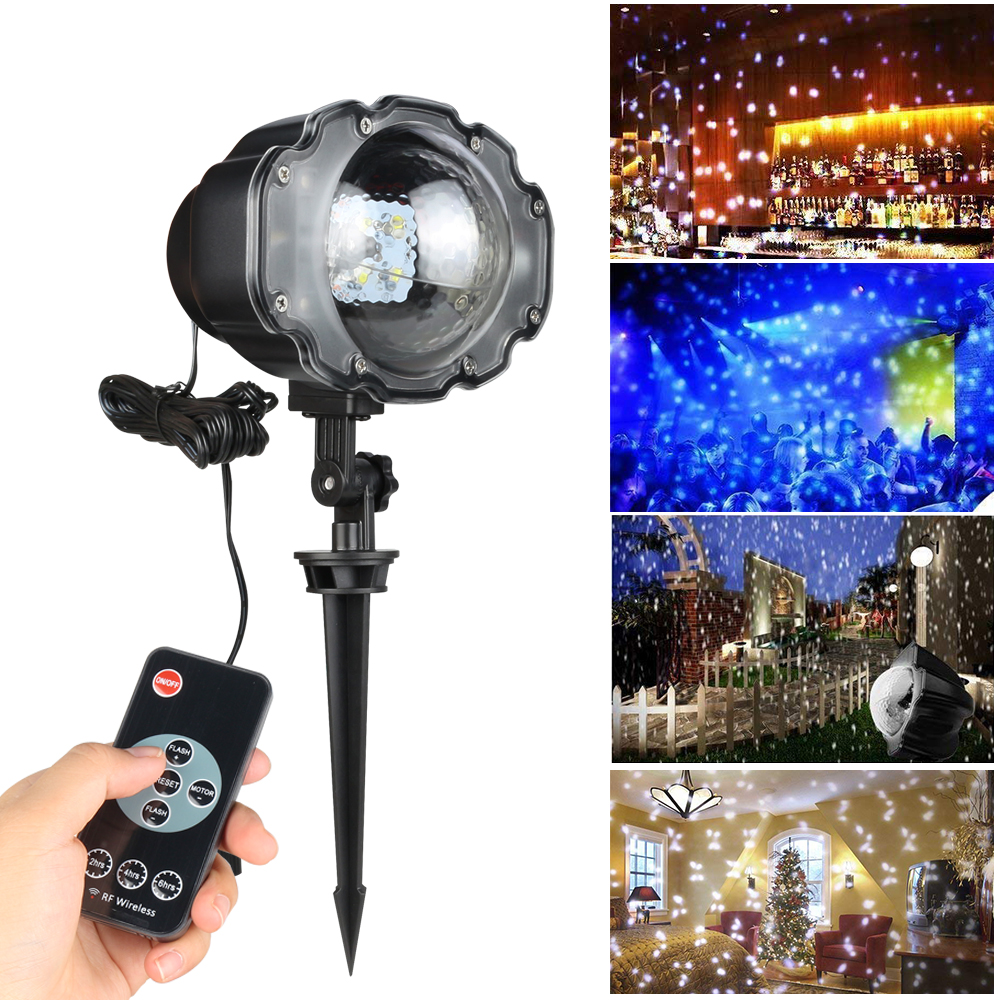 Outdoor IP65 LED Snowfall Laser Projector Waterproof Christmas Landscape Light Wedding Party Garden Laser Stage Lawn Light CF233 beiaid ip65 outdoor laser landscape light projection moving star christmas laser projector garden party disco dj led stage light