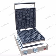 4-Slice Commercial Use 110v 220v Electric Nonstick Square Belgian Waffle Baker Maker Machine Iron