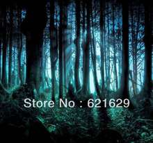 Dense woods 8'x8′ CP Computer-painted Scenic Photography Background Photo Studio Backdrop ZJZ-547