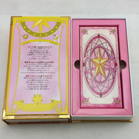 Japanese Hot Anime Pink Card Captor Sakura 56 Pieces Cards With Pink Magic Book Set New in Box Toy Collection
