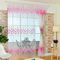 Home Textile Flower Window Curtain Fabric Tulle Sheer Kitchen Bedroom Living Room Curtains L1