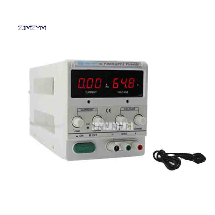 ZJMZYM High Performance 3LED Digital Power Supply Adjustable Switching Voltage Regulators DC Power Supply PS-6403D 0-64V 0-3A утюг bosch tda 2377 2200вт синий