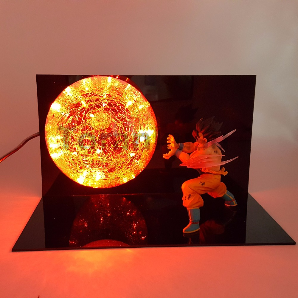 Dragon Ball Z Goku Super Saiyan Action Figures Kaiouken Led Light Anime Dragon Ball Super DBZ Son Goku Lamp Gohan Vegeta