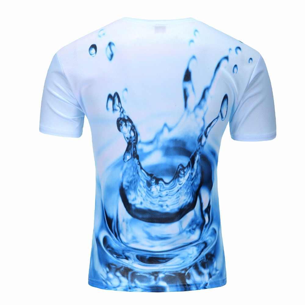 2018 космическая галактика футболка для мужчин/женщин 3d футболка Веселая печать Кошка Лошадь акула мультфильм мода лето футболки оптом