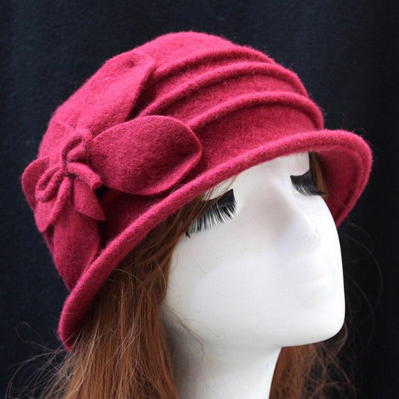Winter Women   Beanies   Cloche Ladies Cap Bucket Floral Warm Hats for Women Bonnet Femme   Skullies     Beanies   Female Cap