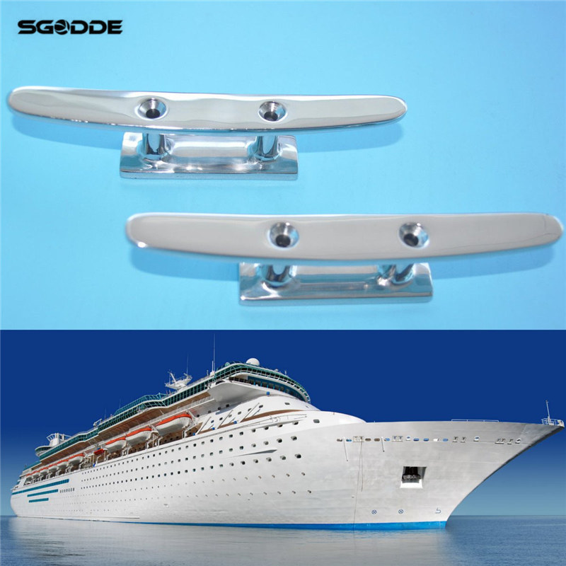 Nautical Hardware 7 Cleats For Home Use: 2pcs 6'' Stainless Steel Deck Boat Cleats Flat Top Low