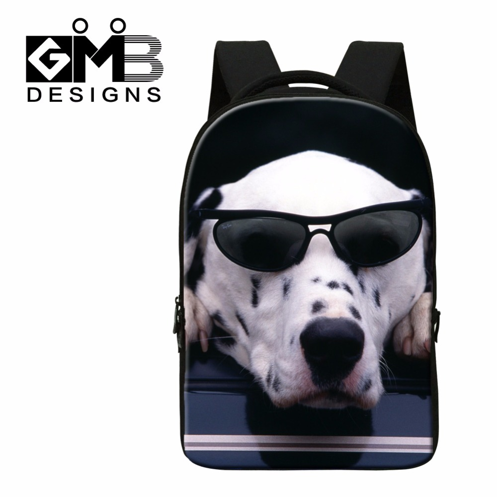2016 Laptop Backpacks for College Students,Dog 3D Printed School Bags for Youth,Boys Cool Bookbags,traveling Bag for Teen Girls women school bags kawaii 3d book bags for teen boys and girls 3d jump style 2d drawing escolar mochial printed game bags fcf cb