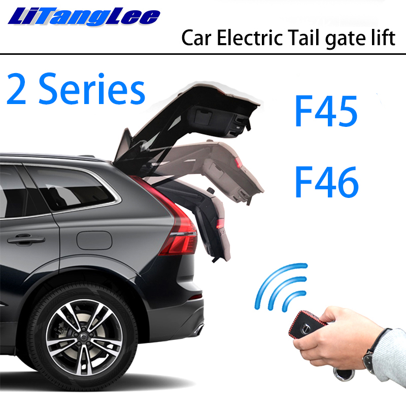 LiTangLee Car Electric Tail Gate Lift Trunk Rear Door Assist System For BMW 2 Series F45 F46 2014~2019 Car Key Remote Control