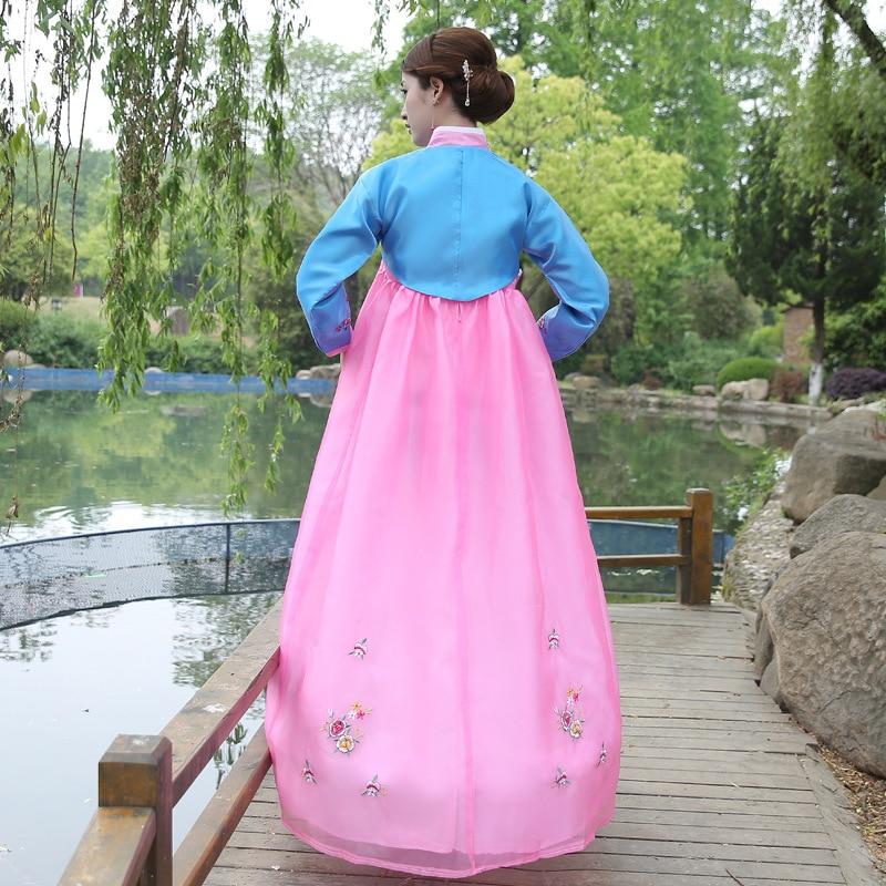 Vêtements traditionnels coréens brodent des femmes Hanbok Costume - Vêtements nationaux - Photo 2