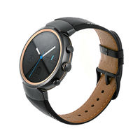 for ASUS ZenWatch 3 Band,Vintage Genuine Leather Watch Band Strap Replacement Watchband with Secure Metal Clasp Buckle